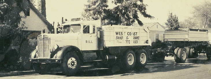 West Coast Sand and Gravel Header History